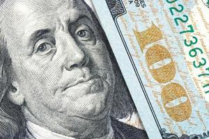 Benjamin Franklin, nieuw biljet van 100 dollar foto