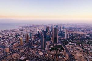het centrum van Dubai (Verenigde Arabische Emiraten)