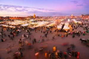 jamaa el fna, marrakesh, marokko. foto