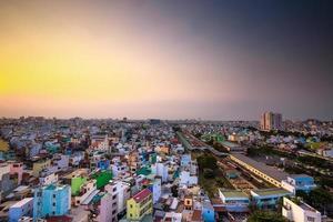 luchtfoto van een prachtige saigon-middag foto