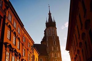 Saint Mary basiliek in Krakau foto