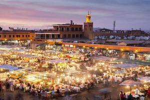 jamaa el fna in marrakesh foto