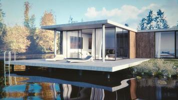 Haus am See - 3D render foto