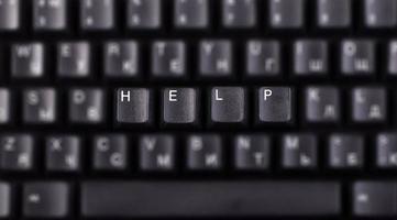 toetsenbord om hulp vragen foto
