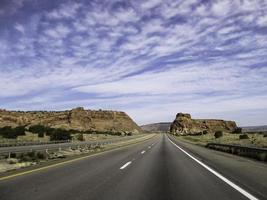 woestijn snelweg foto