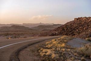 Utah woestijn weg foto