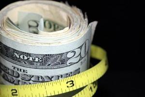 het budget verkleinen en besparingen verhogen foto