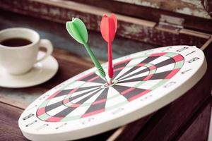 dartbord vintage foto