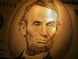 Lincoln bij kaarslicht - $ 5 foto