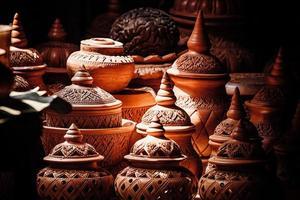 aardewerk winkel in de markt foto