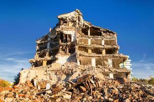 sloop van gebouwen in de stad foto