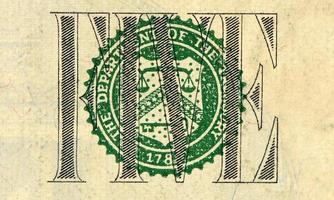 dollarbiljet foto