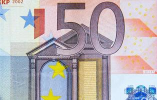 Biljet van 50 euro foto