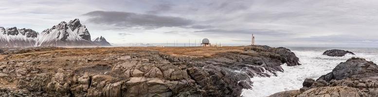panorama van stokksnes in vatnajokull nationaal park in IJsland foto