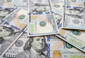 nieuwe us $ 100 bill achtergrond foto