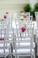bruiloft stoel foto