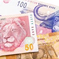 20 50 100 Zuid-Afrikaanse munteenheid de rand foto