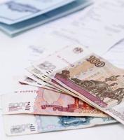 bankboekje. Russische roebels foto