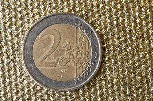 twee euromunt foto