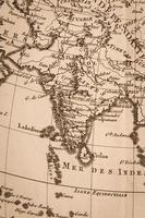 oude wereldkaart india foto