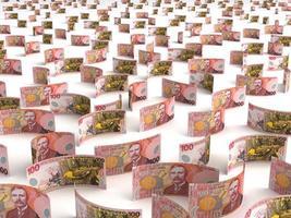 verspreid Nieuw-Zeelandse dollar foto