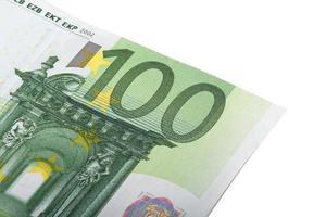sluit omhoog van euro bankbiljet foto