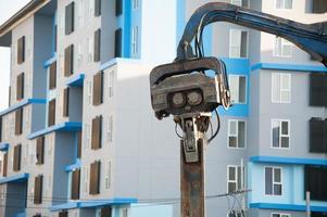 machine boren in de bouwplaats foto