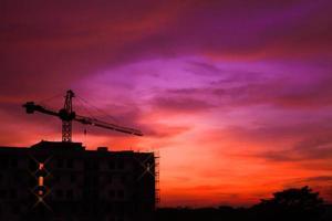 bouwplaats van het gebouw foto