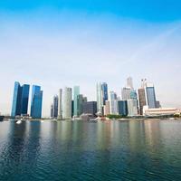 skyline van het centrum van singapore foto