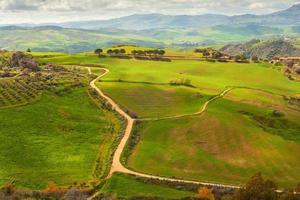 Leonforte platteland, Sicilië foto