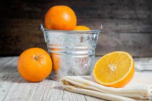 sinaasappels gesneden foto