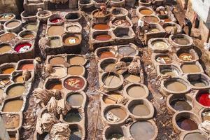 uitzicht op de oude medina in fes foto