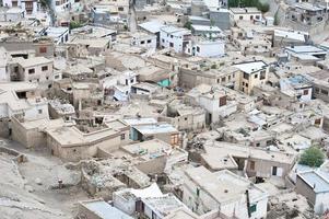 leh stadsarchitectuur. India, Ladakh foto