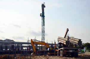 bouwbedrijfsbouwwerf in bangkok thailand foto