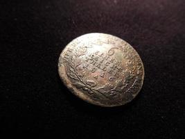 oude Pruisische zilveren munt foto
