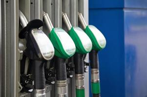 brandstofpompen benzine foto