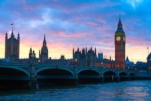 Londen. Big Ben klokkentoren. foto