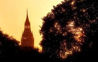 londen zonsopgang foto