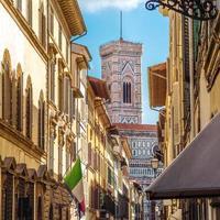 straat van florence, Toscane, Italië foto