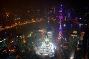 bekijken van bovenaf shanghai foto