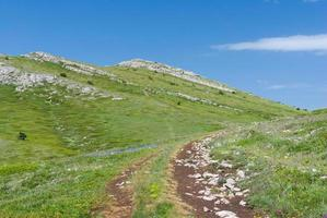 chatyr-dah bergachtig massief op de Krim foto