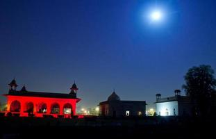licht- en geluidsshow in rood fort (lal qil'ah) foto