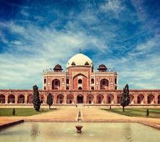 het graf van Humayun. Delhi, India foto