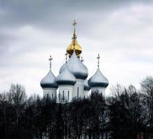 stenen kapel, orthodoxe kerk, Rusland foto
