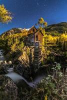 Crystal Mill Bright Starry Night Gunnison Colorado foto