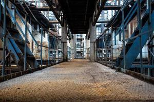 verlaten staalfabriek foto