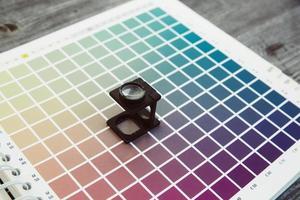 cmyk kleurbeheer linnen tester foto