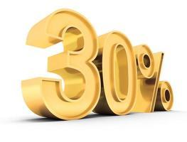 verkoop tekst 30% foto