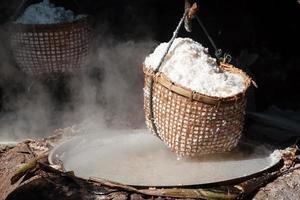 steenzout vijvers, thailand