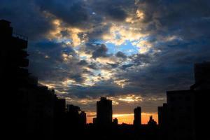 zonsopgang in sorocaba foto